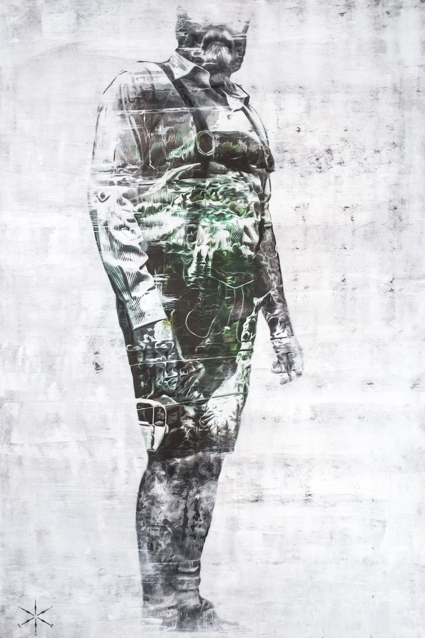 from the mountains sebastian eismann handcut stencil art