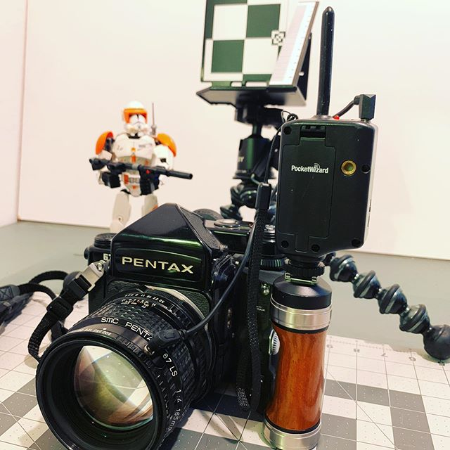 Pentax 67 Flash and critical focus tests. Pentax SMC 165 leaf shutter lens. Vintage Ektachrome E100 220 slide film. #pentax67
