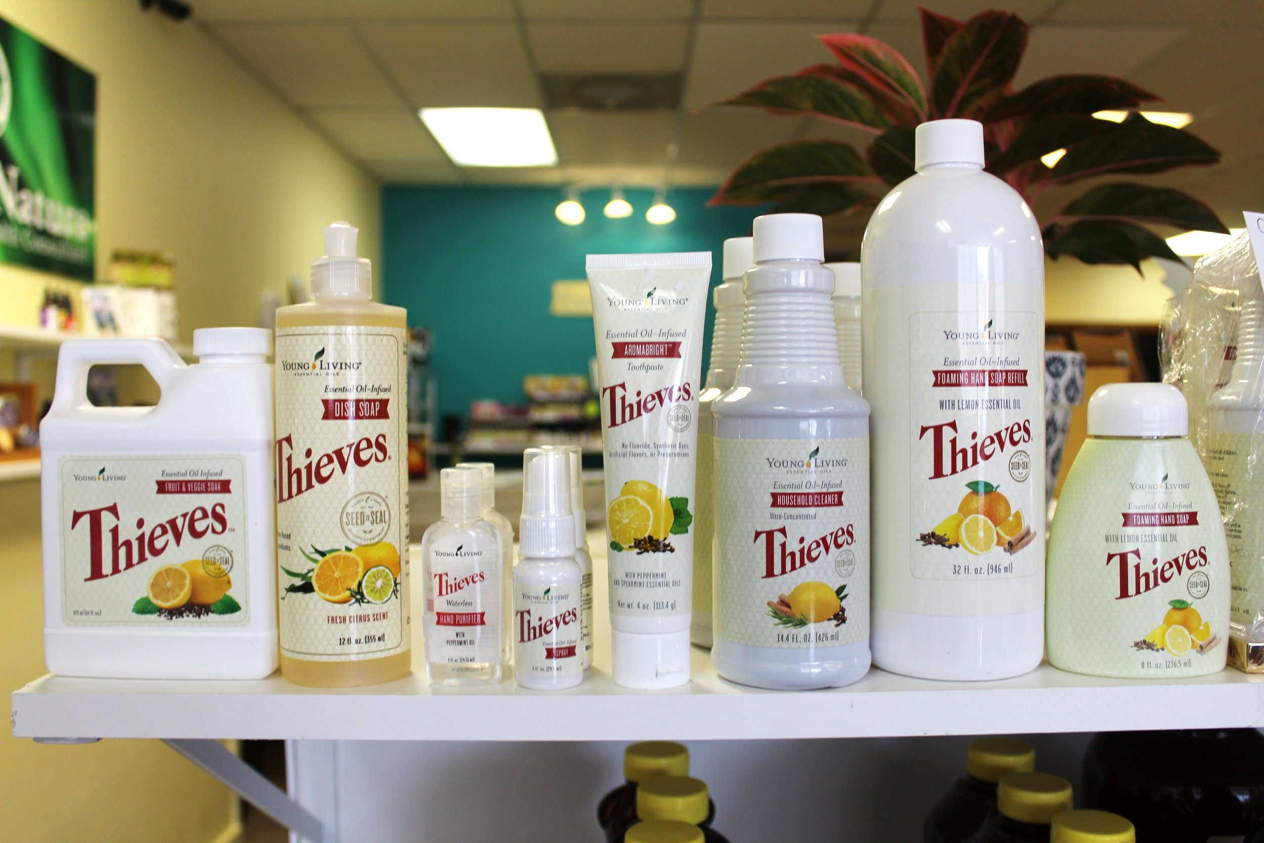 We carry a whole line of Thieves cleaning products.