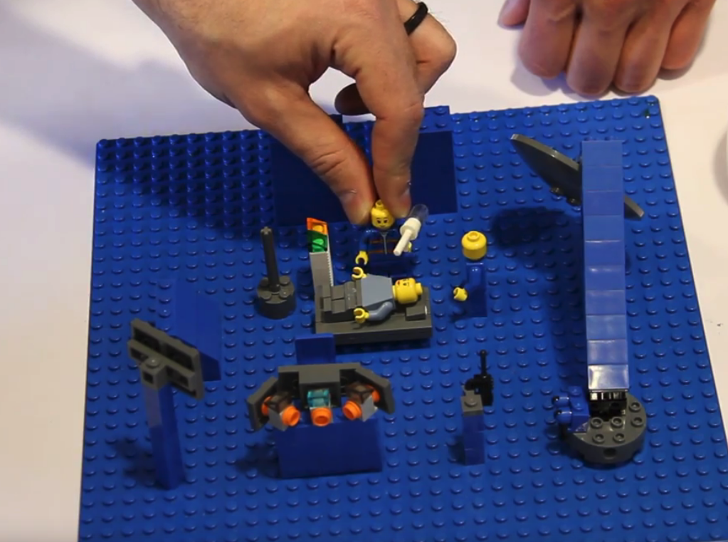 Hypothesising about possible future scenarios with Lego.
