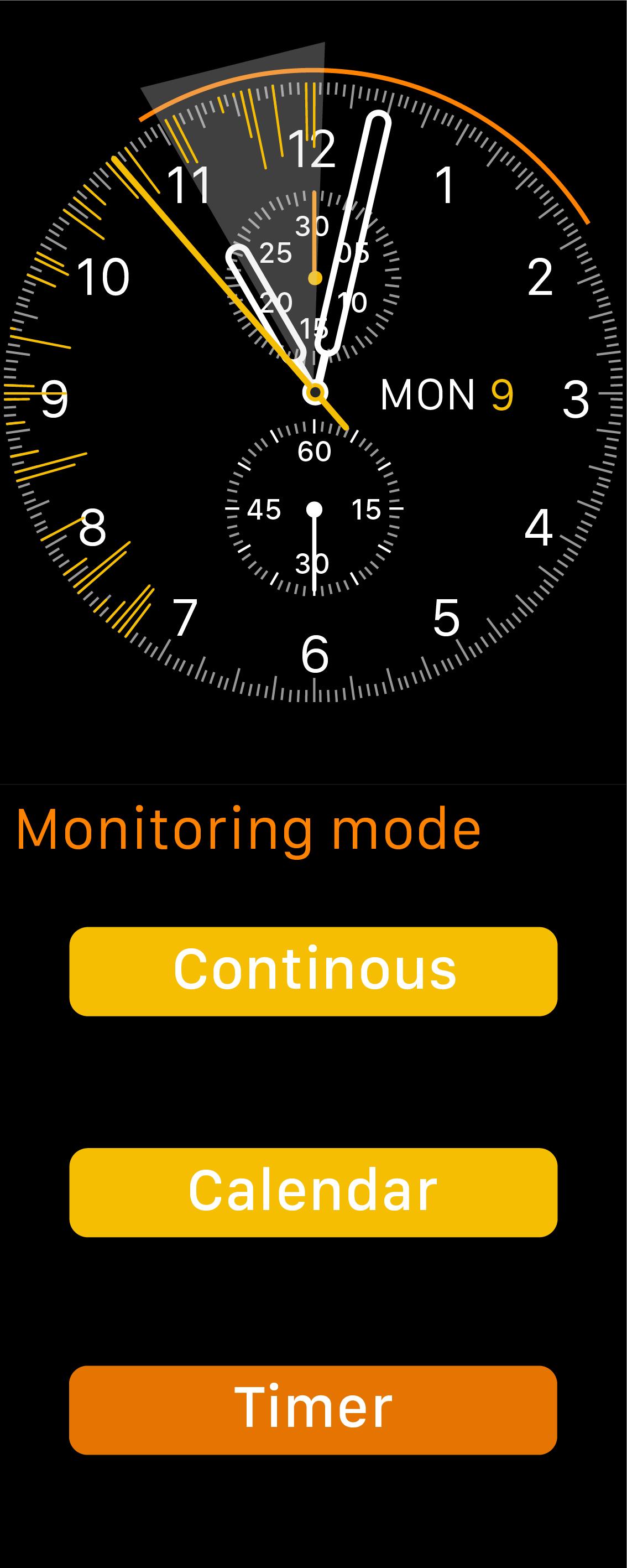 Timer monitoring mode