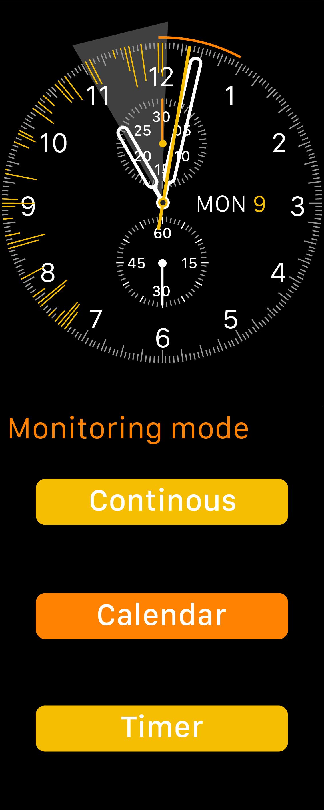 Calendar monitoring mode