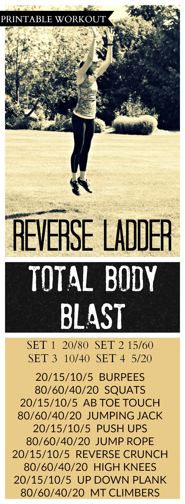 Reverse Ladder Total Body Blast Cardio Coffee And Kale