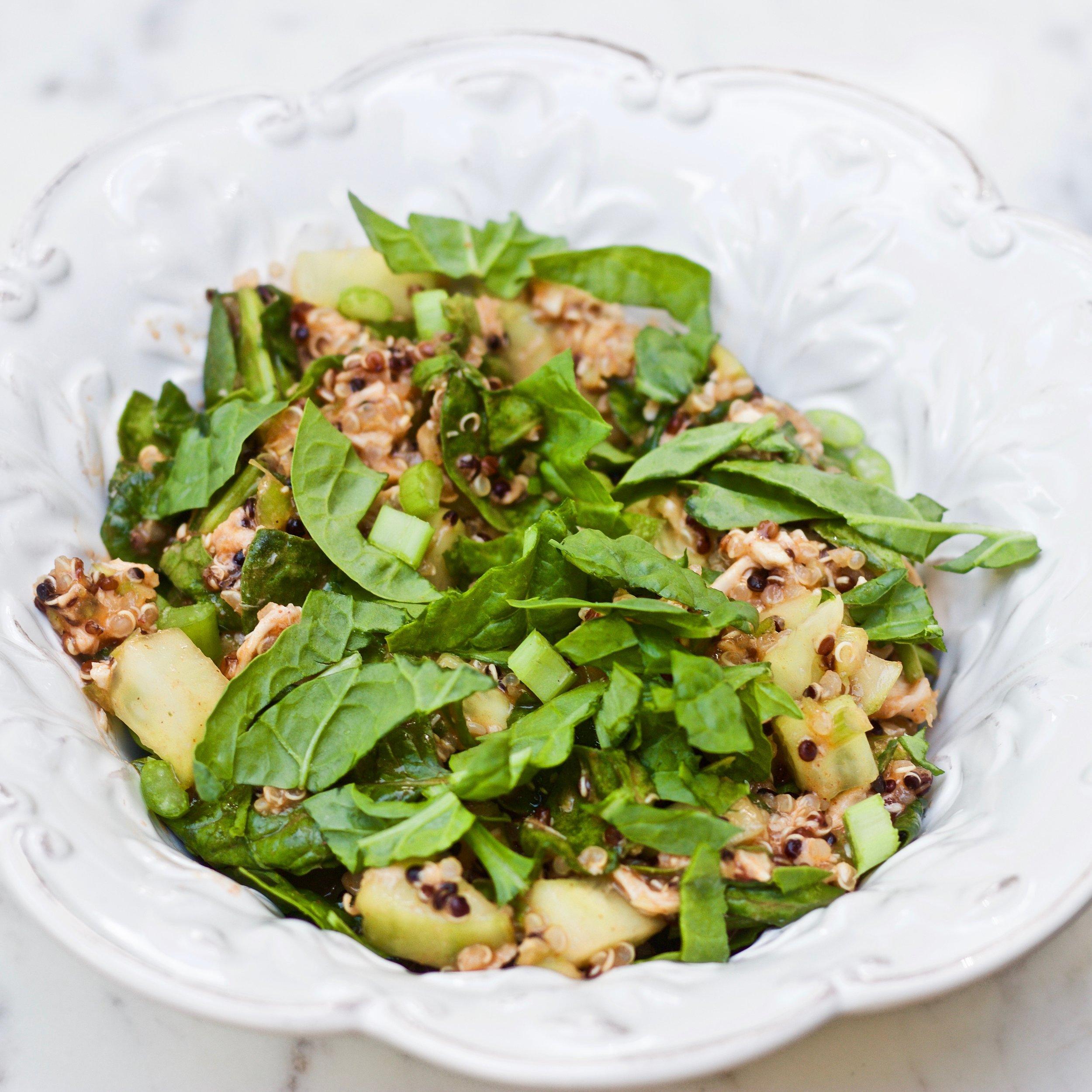 Check out our recipe for Quinoa Buffalo Chicken Protein Bowl - Printable recipe available