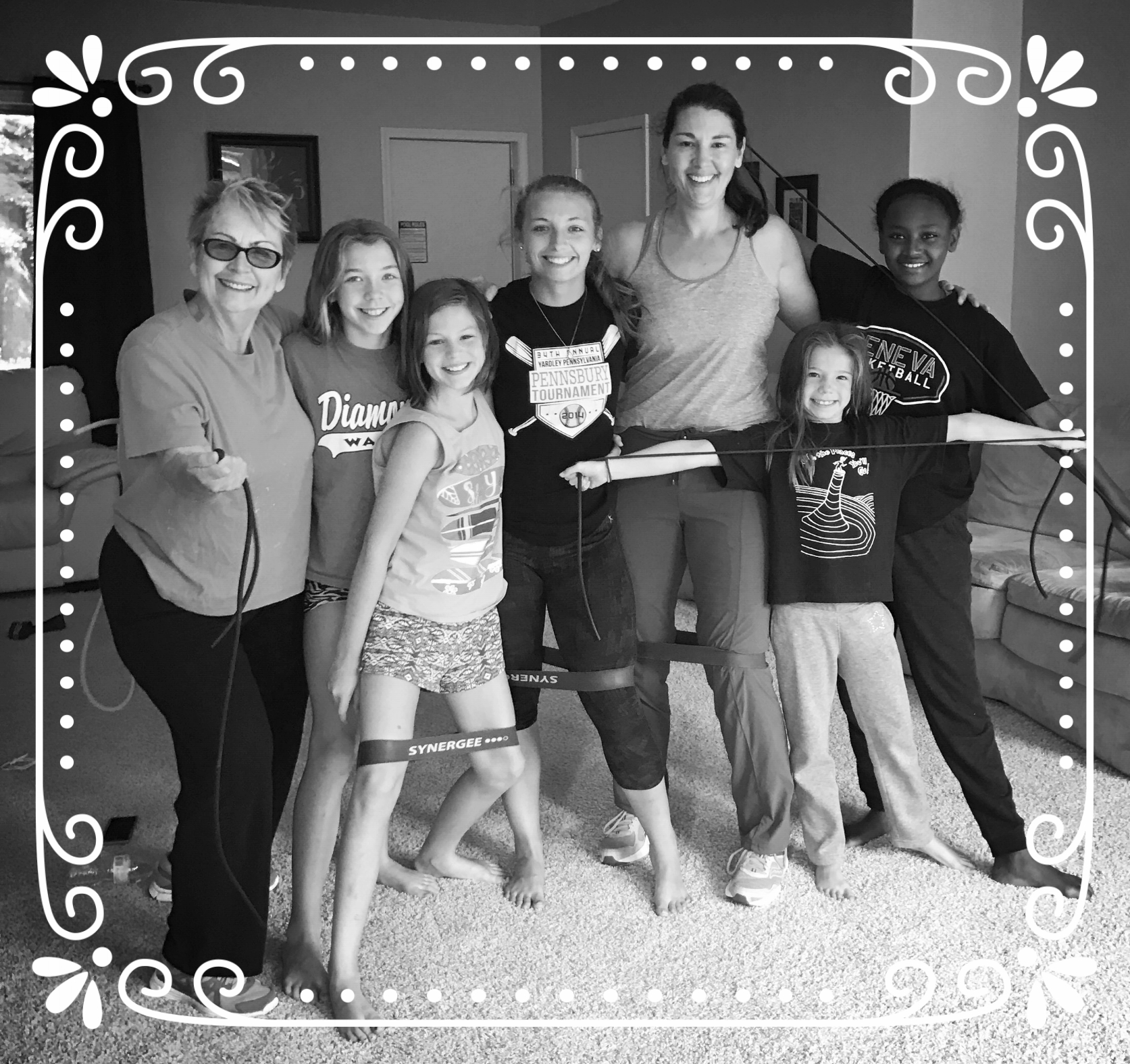 My Michigan vacation crew! - Every morning, my family and I worked out using our 5 Day Vacation Workout Plan. It was a great way to start each day before we headed for the beach!