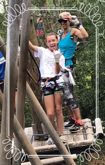 You want to do what? - My daughter and I recently went on a tree treking adventure. I never would have agreed to go on such a high risk adventure before fitness became a part of my life. The confidence that comes with exercise allowed me to agree to my daughter's crazy idea!