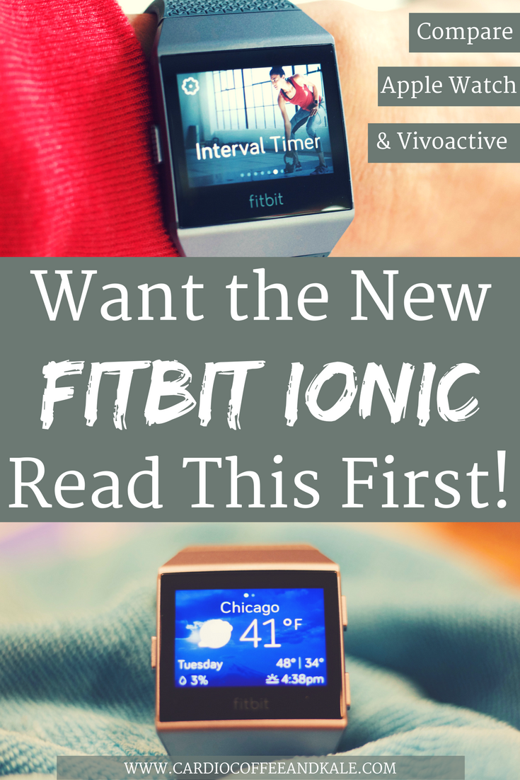 If you are thinking about buying the Fitbit Ionic and want to know how it stacks up against the Apple Watch or the Garmin Vivoactive3 - Read this! I will give you an honest review of my Ionic! .png