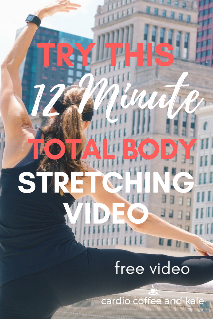 Try this 12 minute total body stretching video after your next workout!  www.cardiocoffeeandkale.com