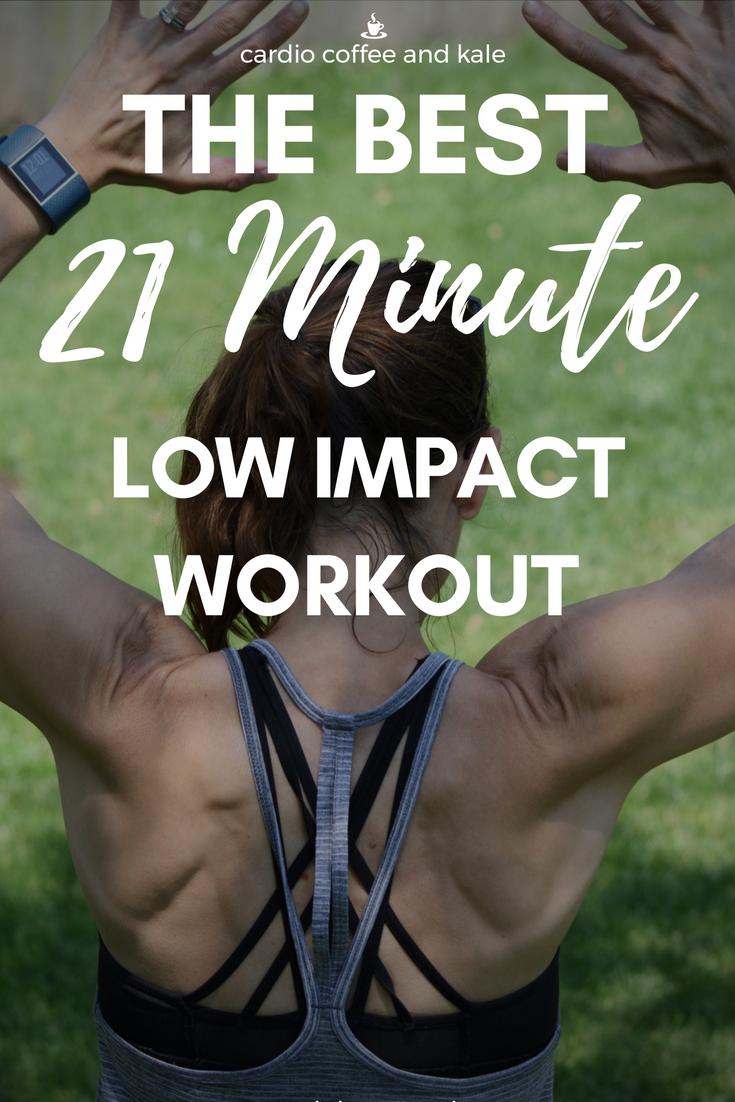 low impact 21 minute beginner workout. www.cardiocoffeeandkale.com