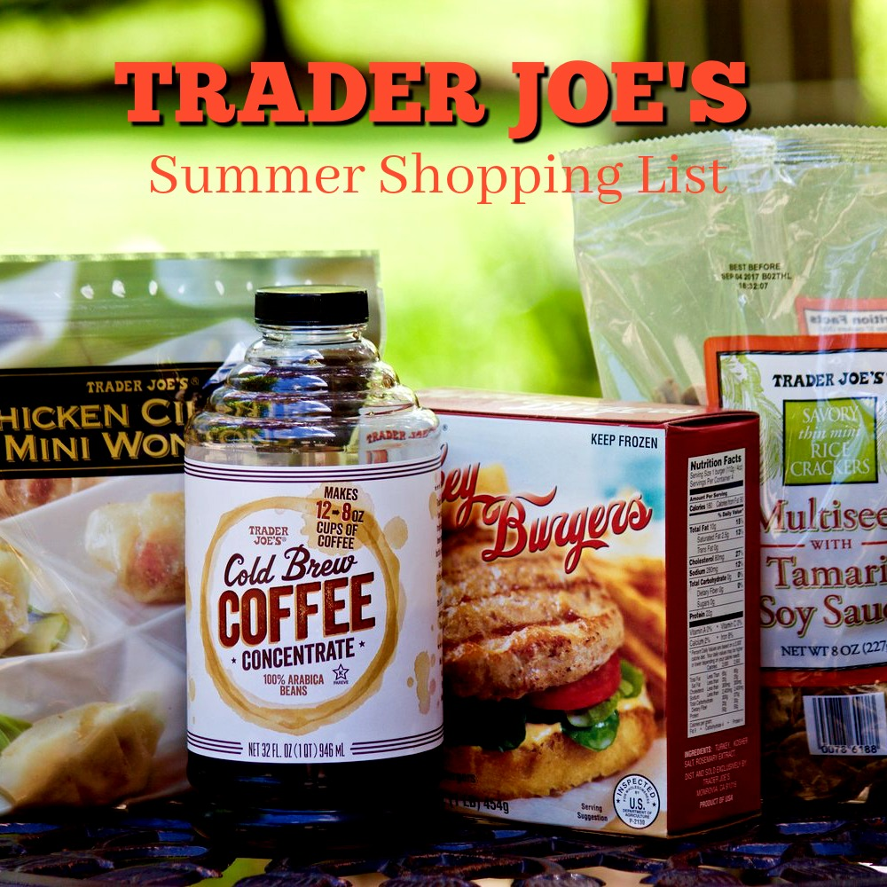 Trader Joe's Summer Shopping List cardiocoffeeandkale.com