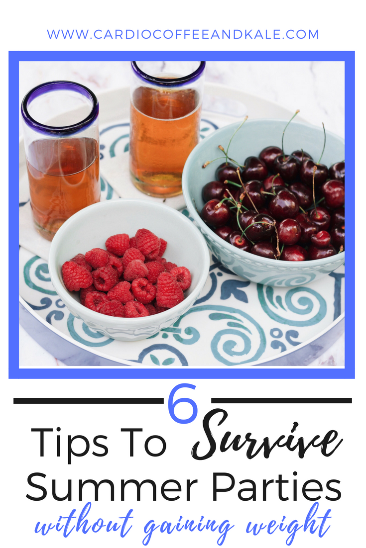 Try out these 6 practical tips to help you survive your summer picnics, graduation parties, and vacations without gaining 10 extra pounds! #healthyeating #healthy #healthylifestyle #forkfeed #eatwell #fitfam #fitness #fitnessmotivation #fitnesslifestyle #fitgirl #fitnesslover #eatsmart #cleaneating #cleaneats #weightloss #weightlossjourney #weightlossmotivation #healthyfood