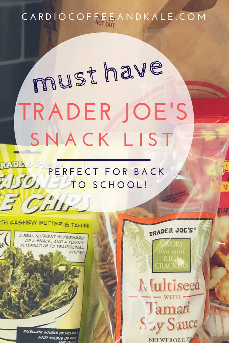back to school snack list.png www.cardiocoffeeandkale.com