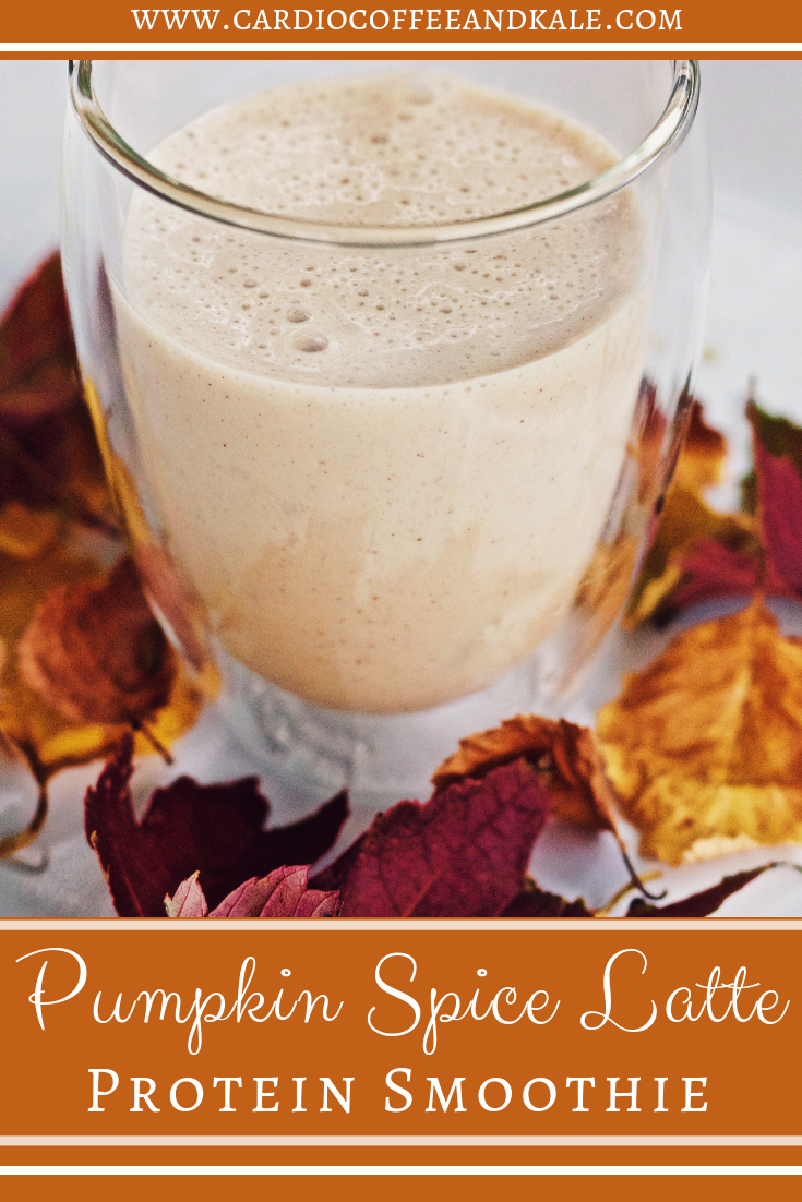 Love pumpkin? Love coffee? This super simple Pumpkin Spice Latte Protein Smoothie is the perfect answer!  #pumpkin #pumpkinspice #pumpkinspicelatte #coffee #smoothie #protein #proteinsmoothie #Ilovefall