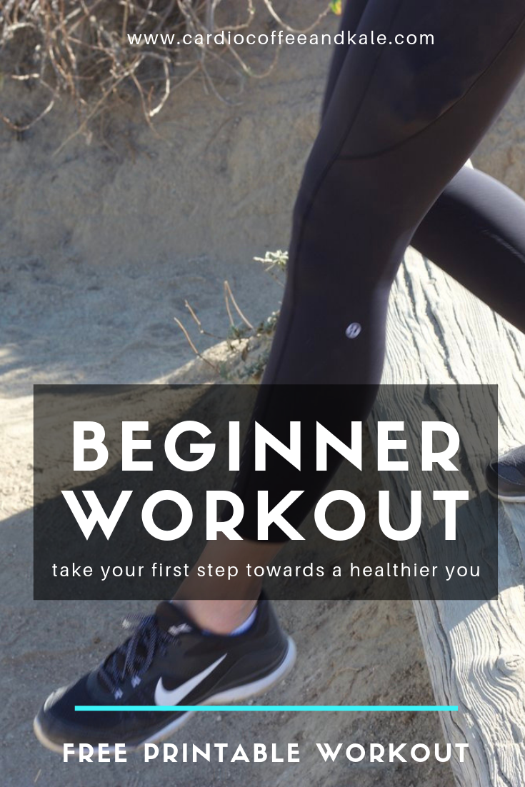 beginner workout.png  www.cardiocoffeeandkale.com