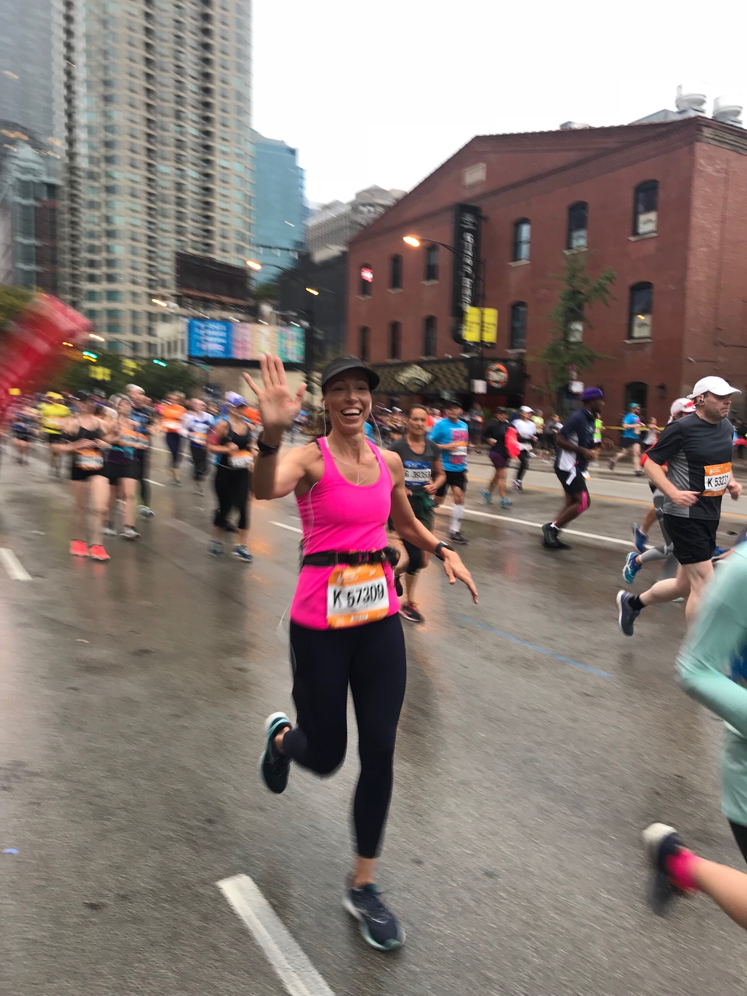 Not the best picture, but I was still smiling at mile 17!
