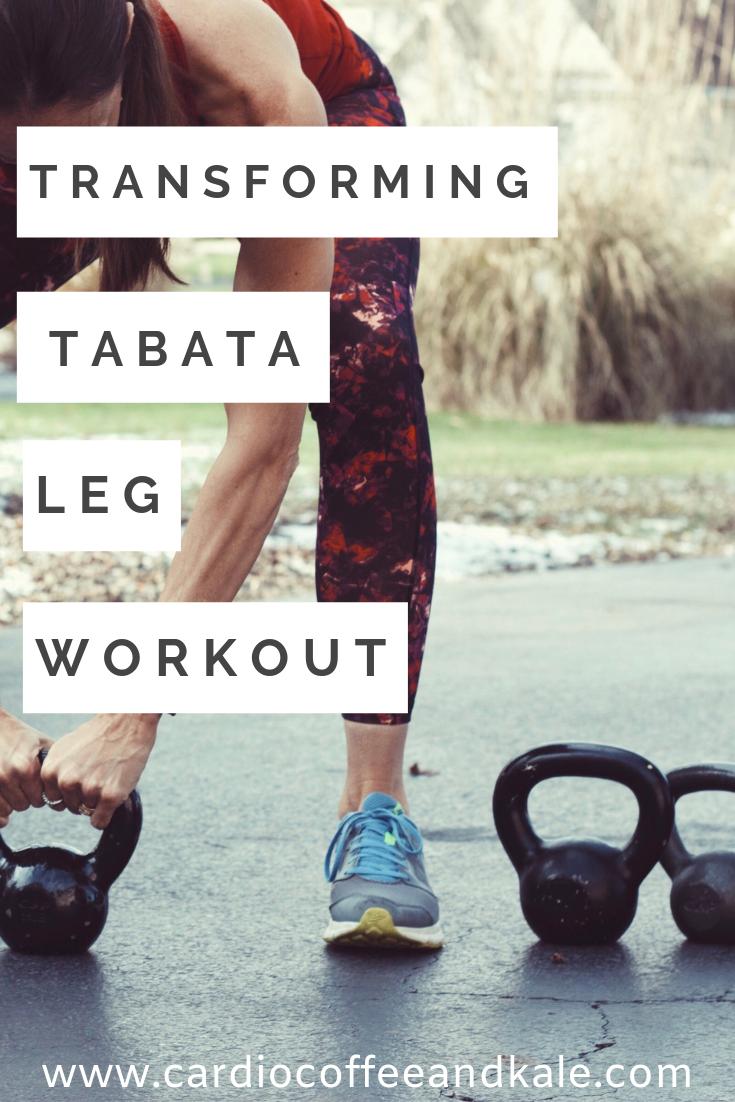 transforming tabata leg workout! perfect leg and cardio workout!  www.cardiocoffeeandkale.com
