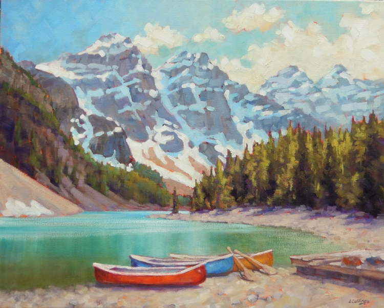 SOLD - Canoes and Moraine Lake
