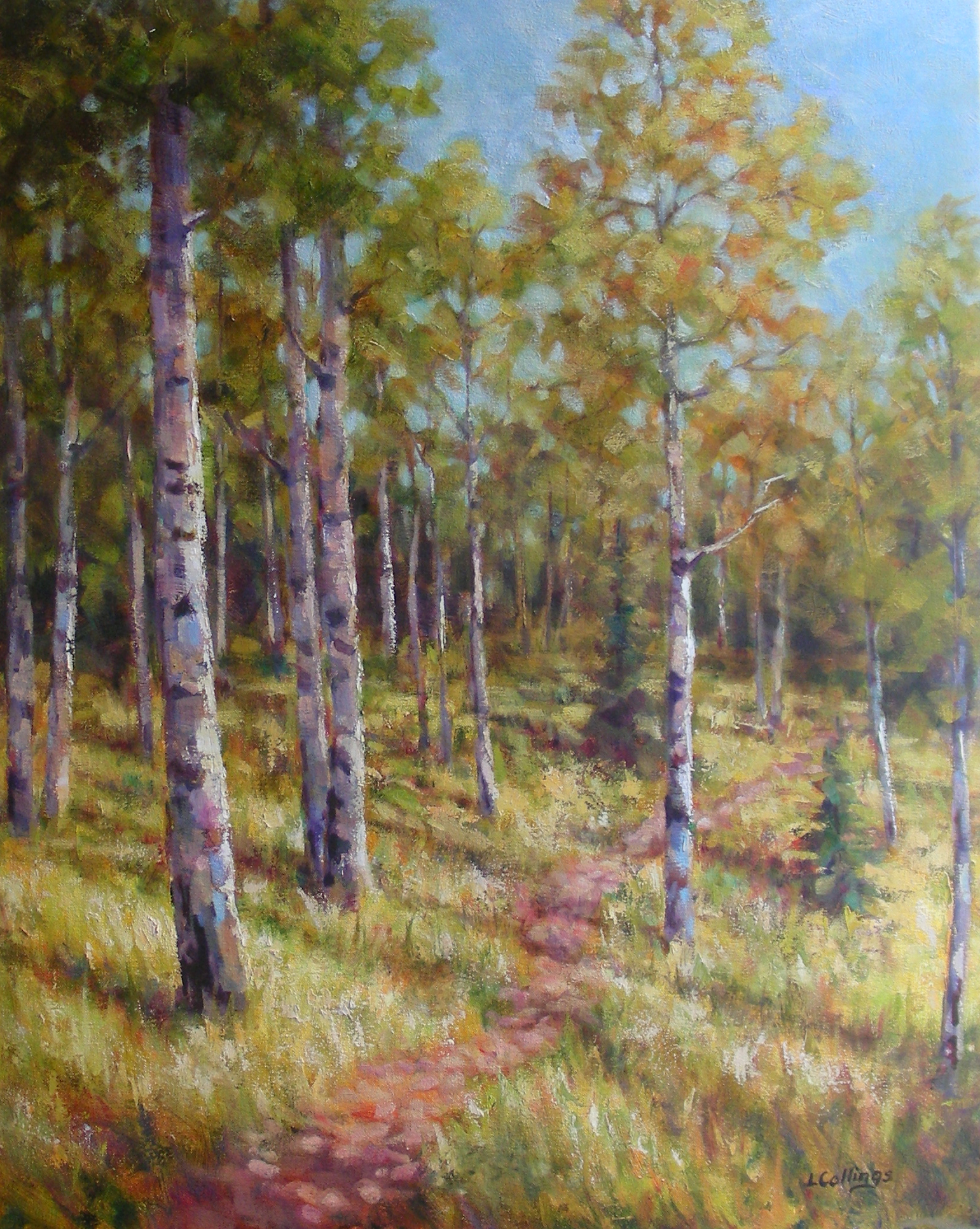 "3 - Chilcotin Trail - 30 x 24"", oil on canvas, $1,080-"