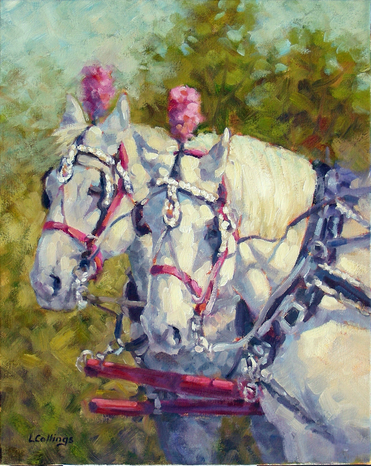 "9 - On Show - 20 x 16"", oil on canvas, $480-"