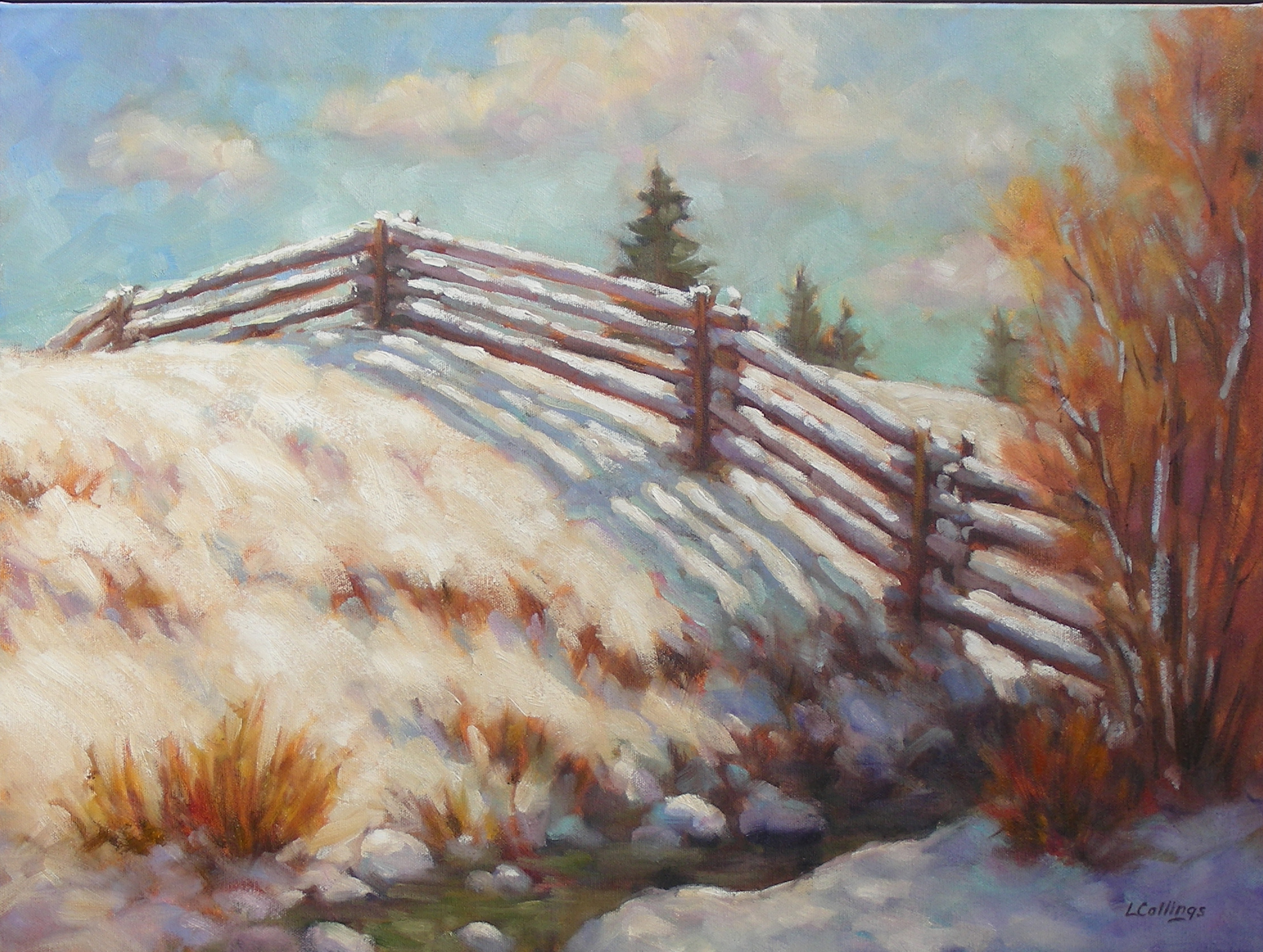 "11 - Creek Bank - 18 x 24"", oil on canvas, $650-"