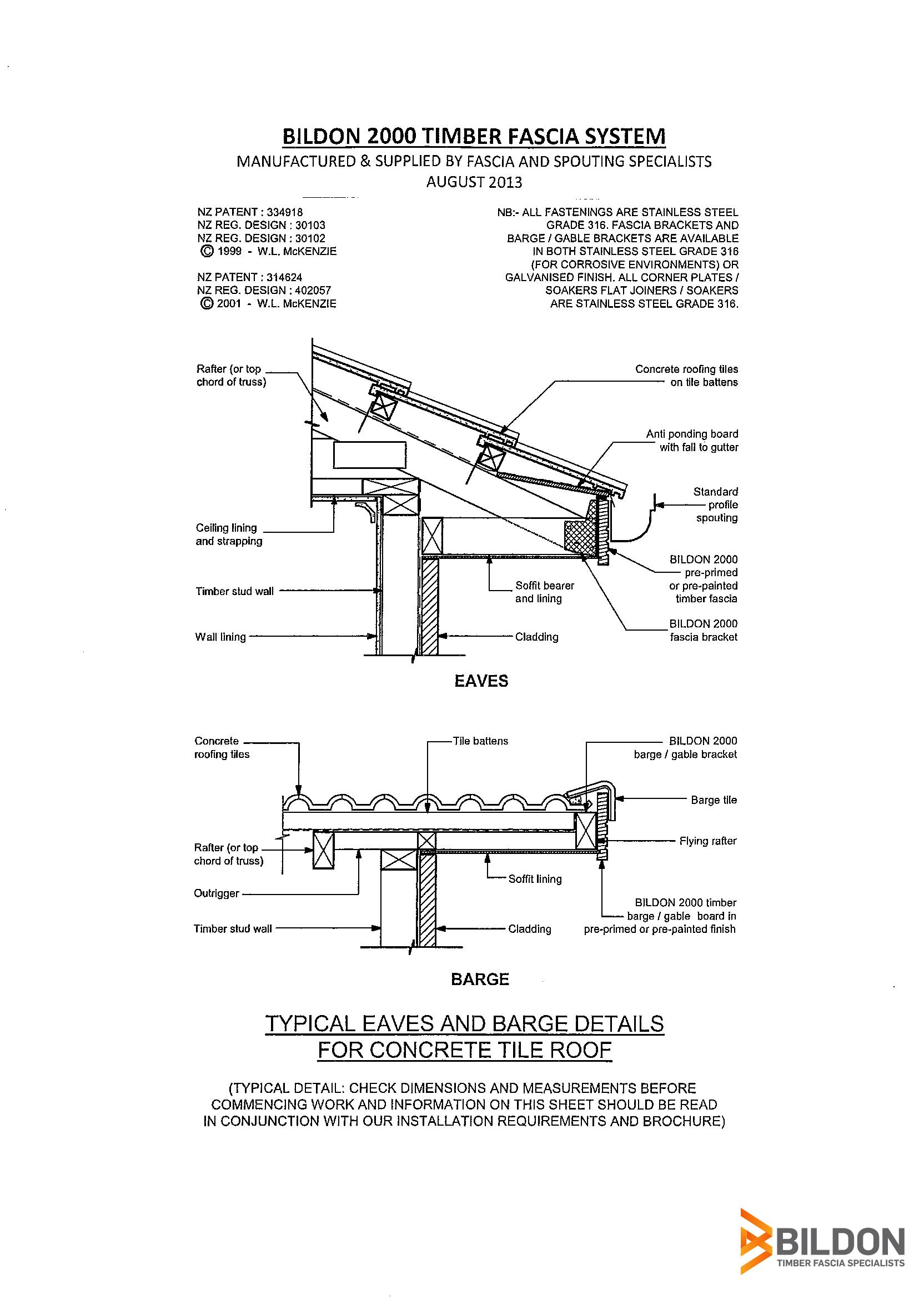 Technical Specs Of Timber Fascia Systems Bildon