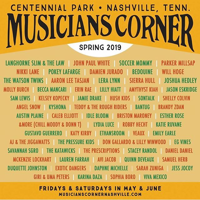 Honored and excited to announce that I've been invited to join the lineup of this year's @muscornernash I'll be performing on the @lightning100 Acoustic Stage on June 29th before @johnboymusic  #lightning100 #centenialpark #nashvilleevents #musicianscorner