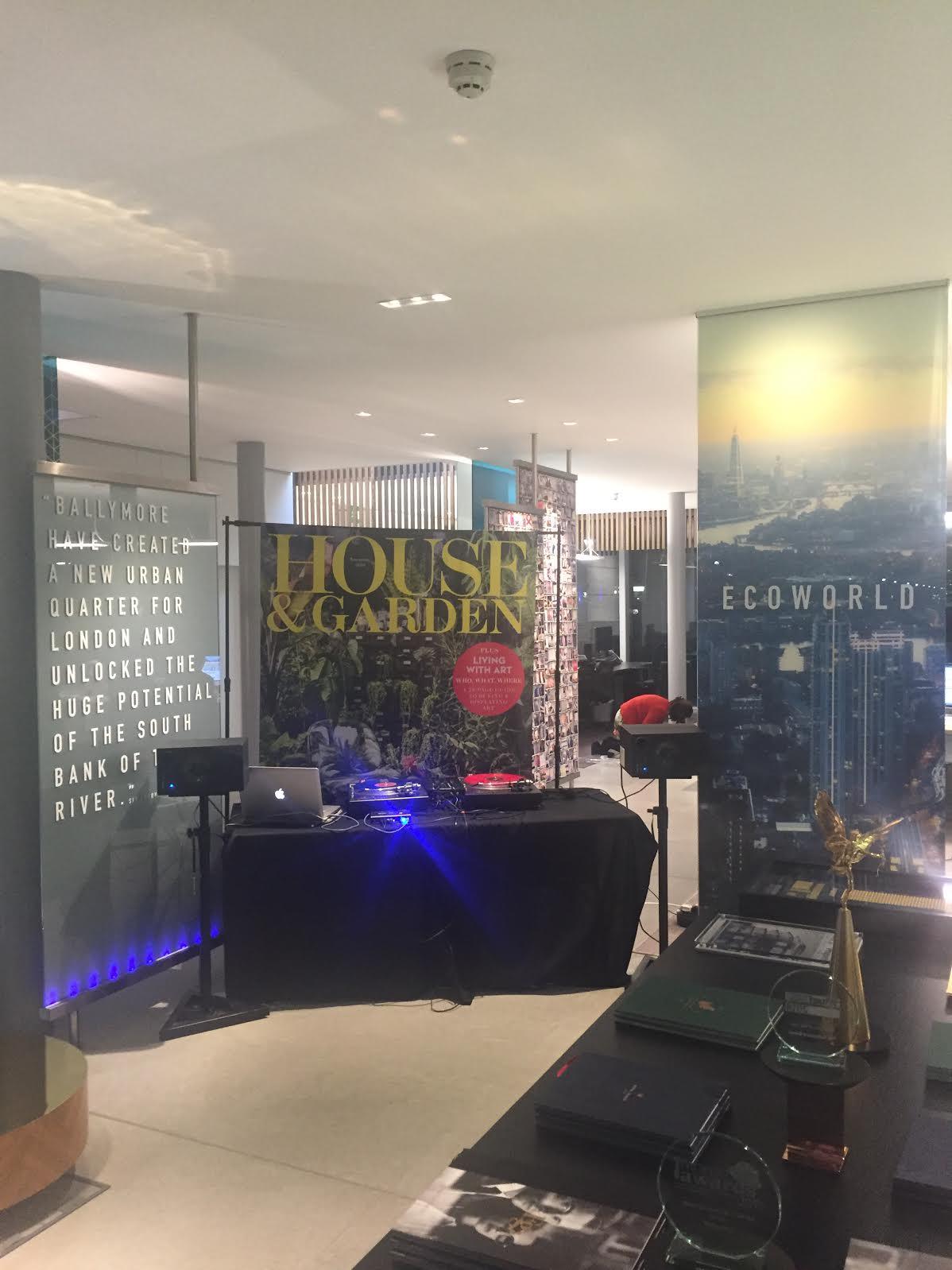 Mini Set up for House & Garden Magazine Showcase, London.