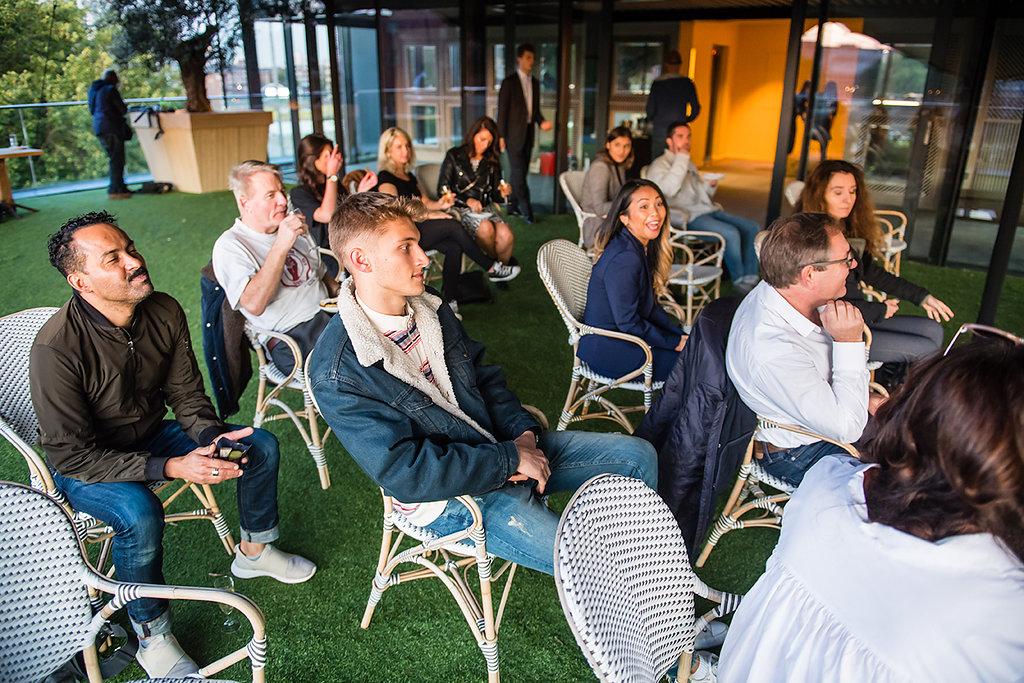 Attendees @ Day 1 DJ Masterclass Workshops @ Embassy Gardens, London.