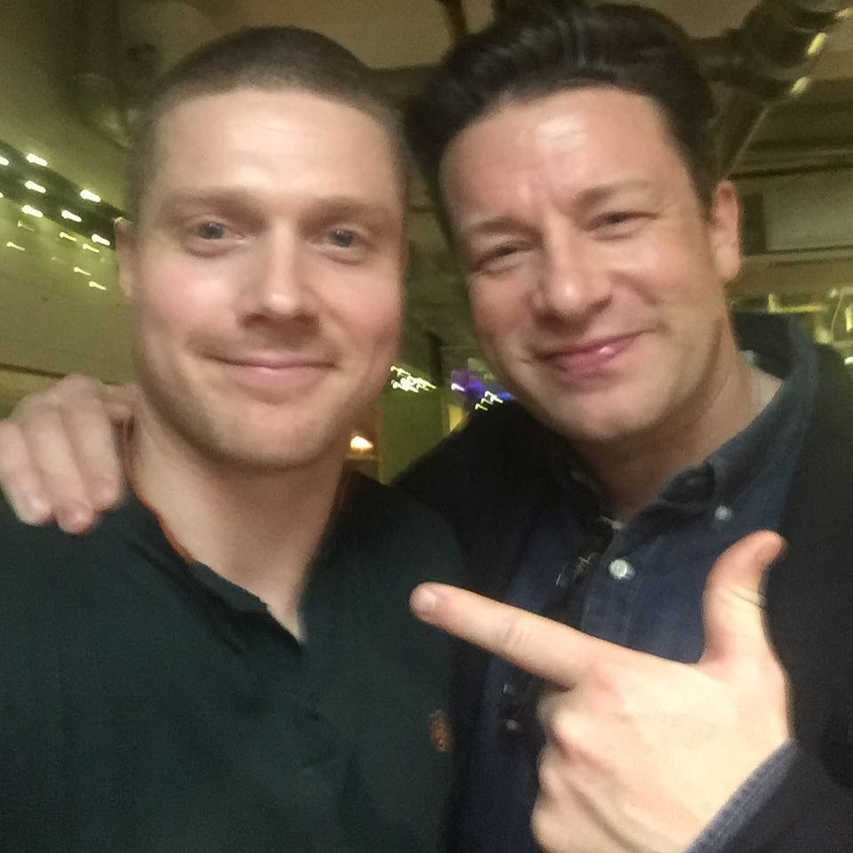 DJing for Jamie Oliver @ a private party in his companies HQ in Nov. Very nice guy.