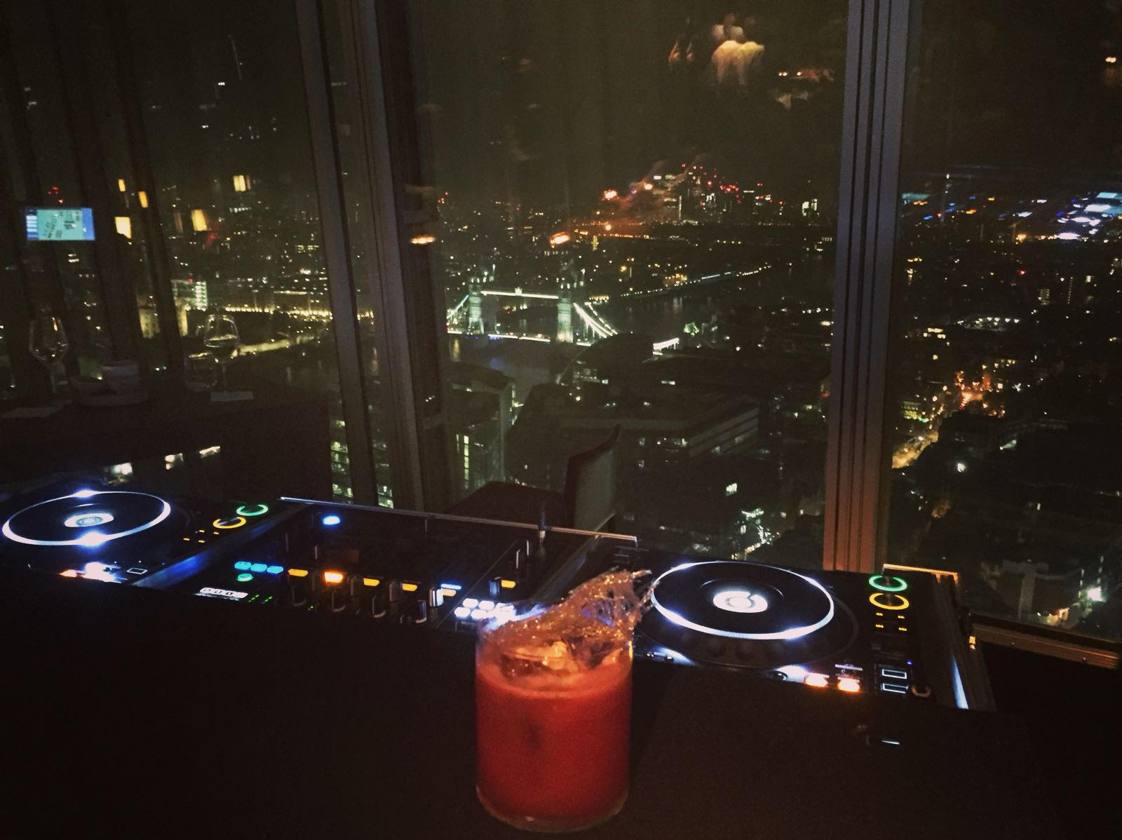 My monthly office - 35 floors up the Shard, London.