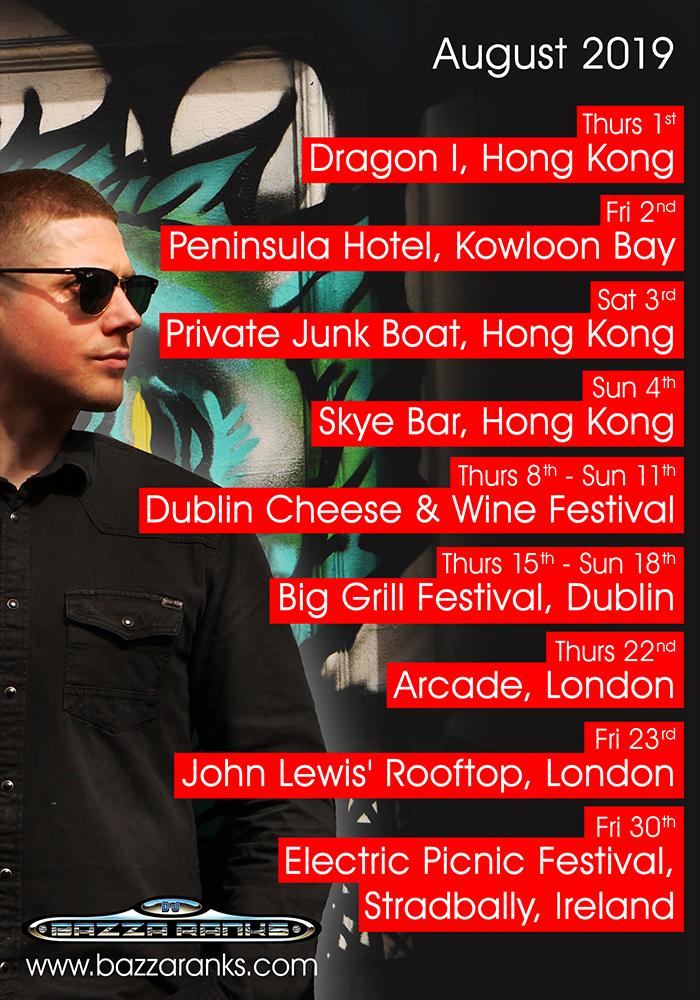 DJ Tour Dates August 2019.