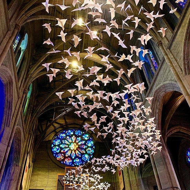 Spectacular Doves by Michael Pendry at Grace Cathedral.