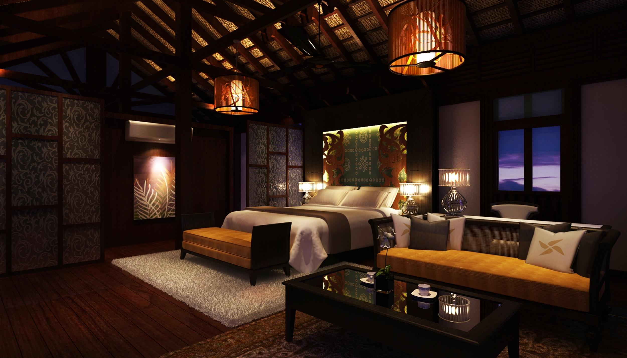 The luxurious rooms at Seri Chenang