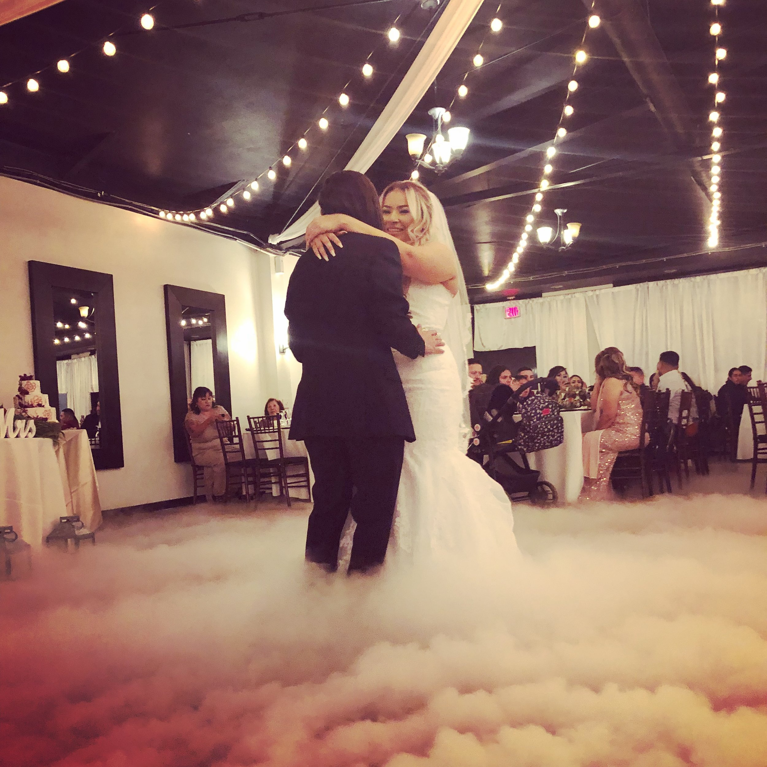 Make your 1st    dance on the clouds    w/ our low fog effect