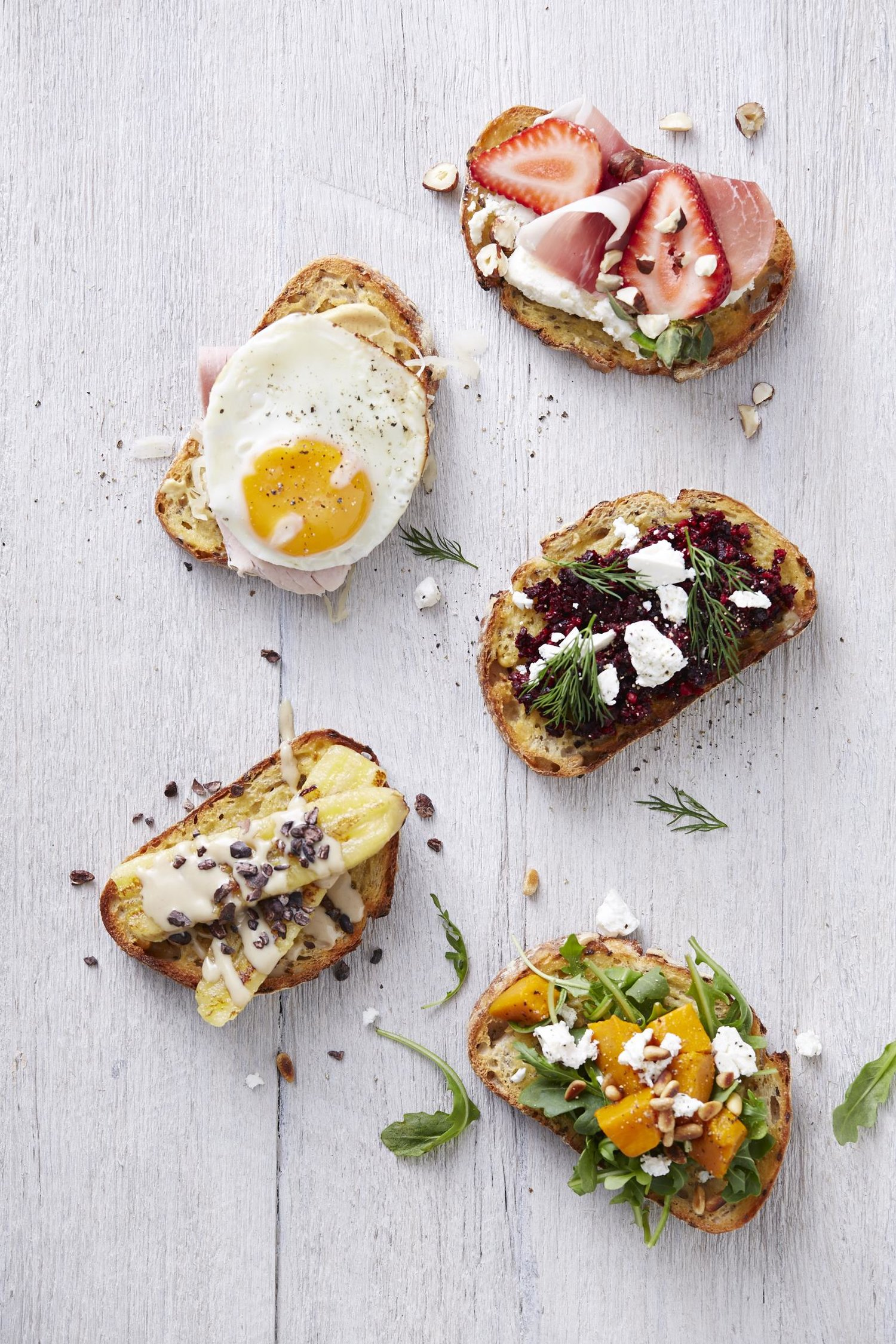 Lush Toasties. I Quit Sugar. Healthy Breakfast Cookbook. Photographer: Ella Martin. Stylist: Gemma Lush.