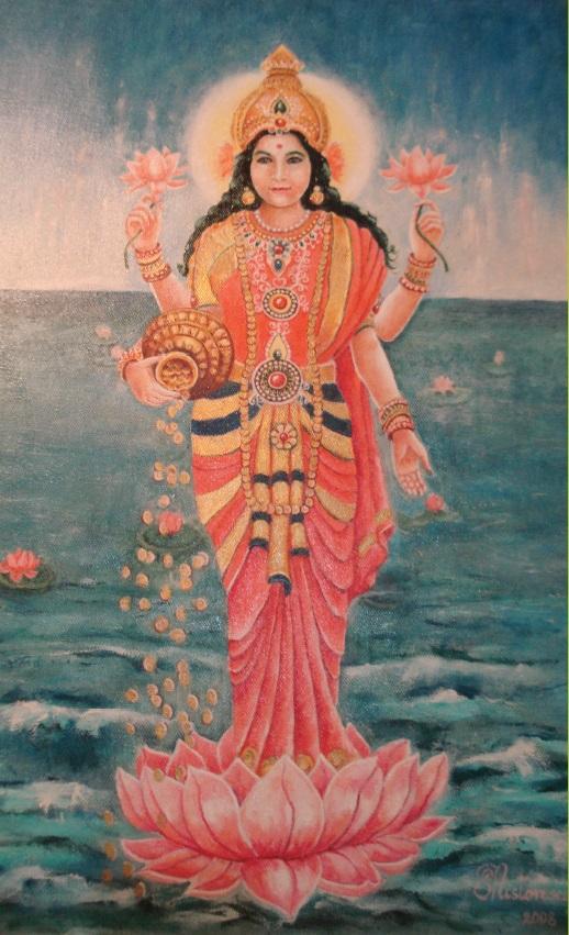 Shri Lakshmi, Deity of Nabhi Chakra