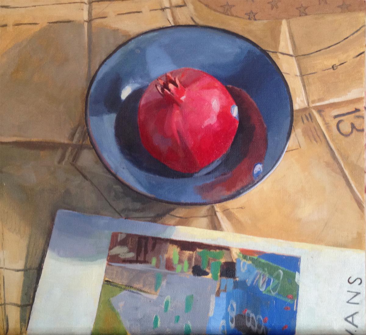 Bulls eye, oil on canvas, 14x12