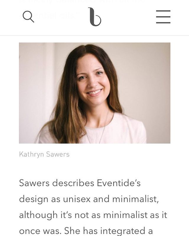 MEDIA ALERT! Eventide was featured in @beautyindependent!  Founder Kathryn Sawers talks about how Eventide started, how it has evolved and where it's heading.  Check out the link in bio to give it a read.  Thank you @rdavinabrown for the wonderful write up. ✨