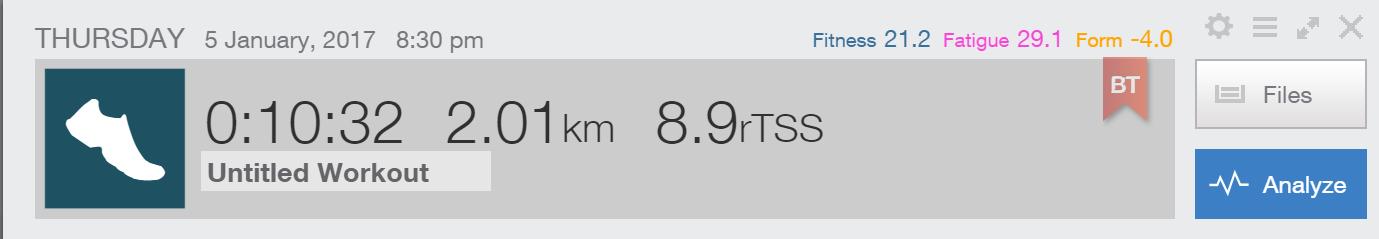 2km TT before training: 10:32.