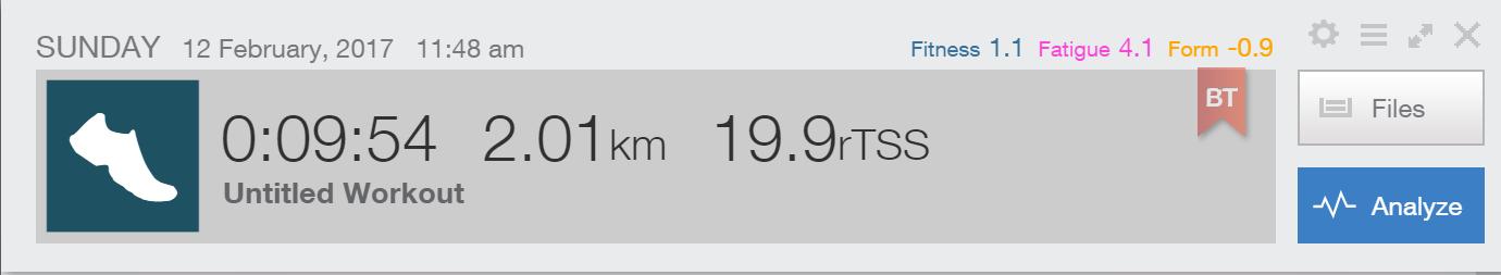 2km TT after training: 9:54