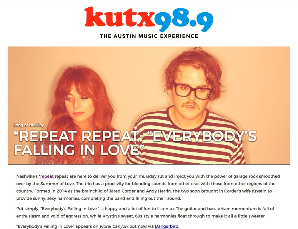 KUTX 98.9 Austin Song of the Day - Everybody's Falling In Love.jpg