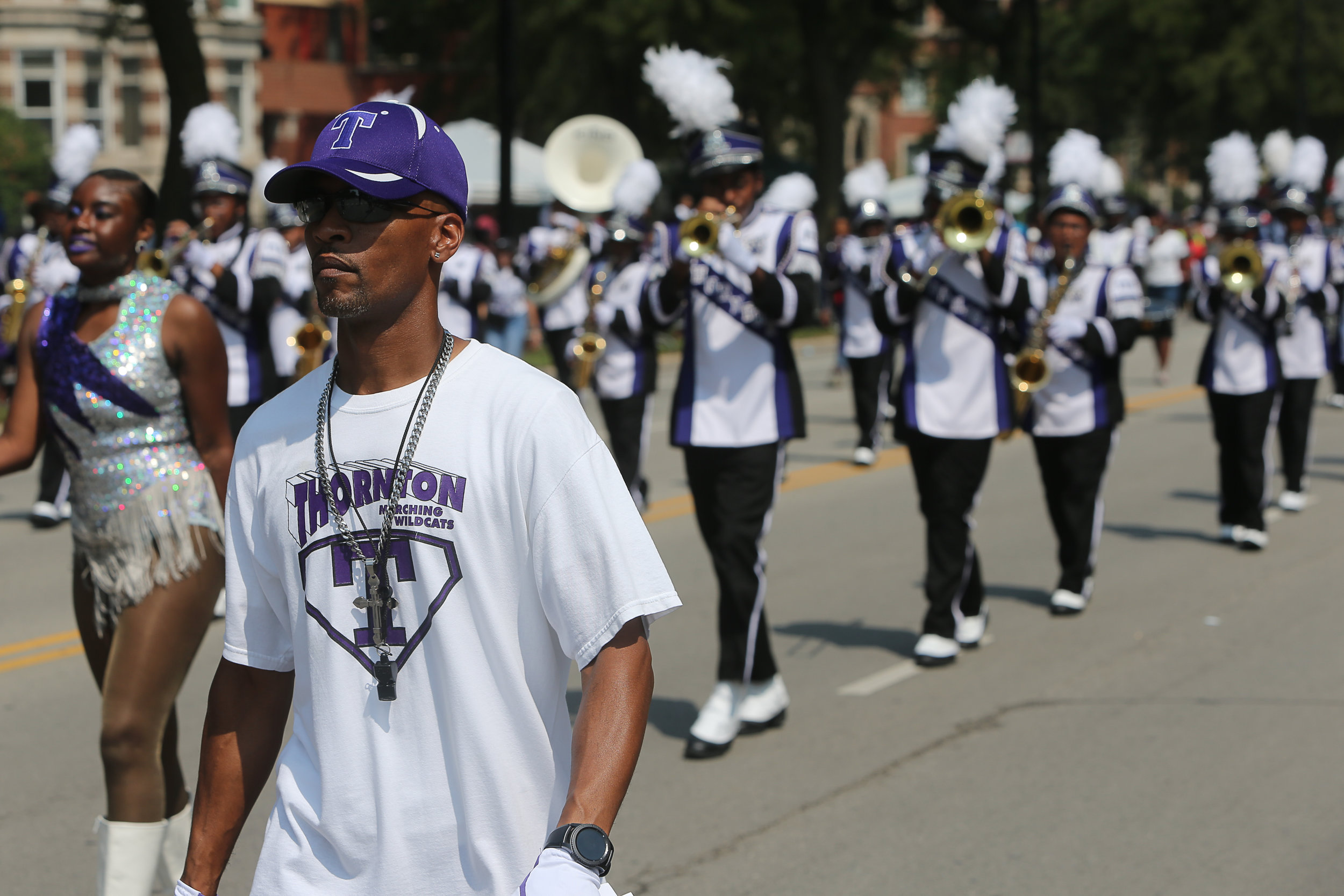 James Render Thorton HS Band Dir, Marching Wildcats Band, Photo By Matt Gibson.JPG