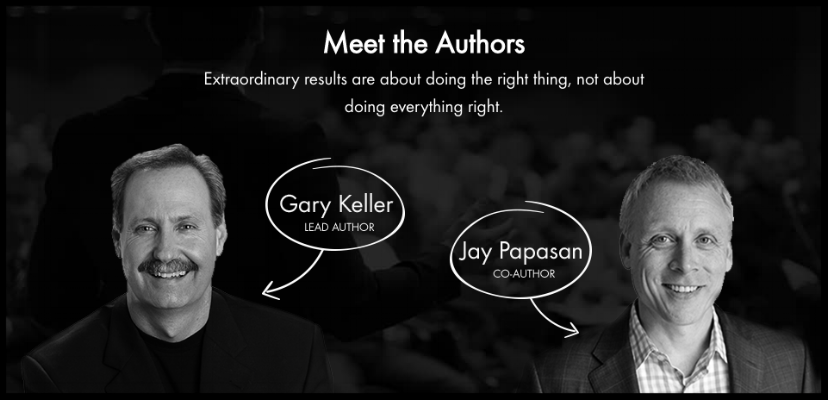 "Authors of ""The ONE Thing"" Gary Keller and Jay Papasan ( image source )."