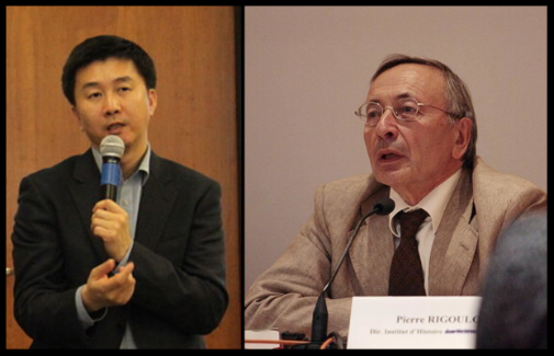 Authors Kang Chol-hwan (left) and Pierre Rigoulot.