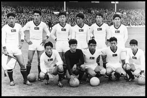 The 1966 North Korean soccer team.