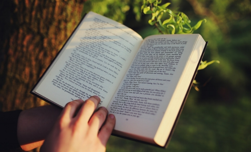 Better yet, read a book outside. You'll gain some knowledge and Vitamin D.