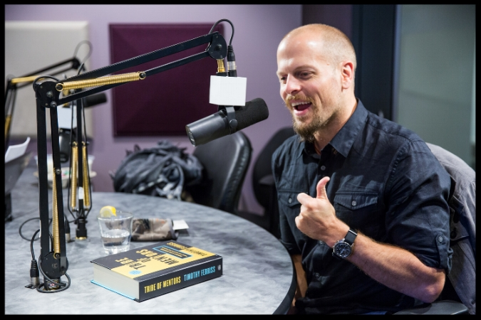 "Author Tim Ferriss talking about his book ""Tribe of Mentors."""
