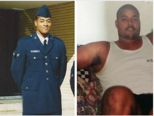 After quitting the Air Force, Goggins ballooned up to nearly 300 pounds.