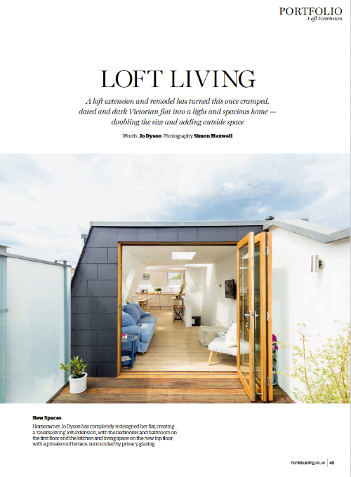 HOME BUILDING & RENOVATING MAGAZINE  A loft conversion project we completed in Earlsfield was featured in the 'Portfolio' section of Home Building Magazine.