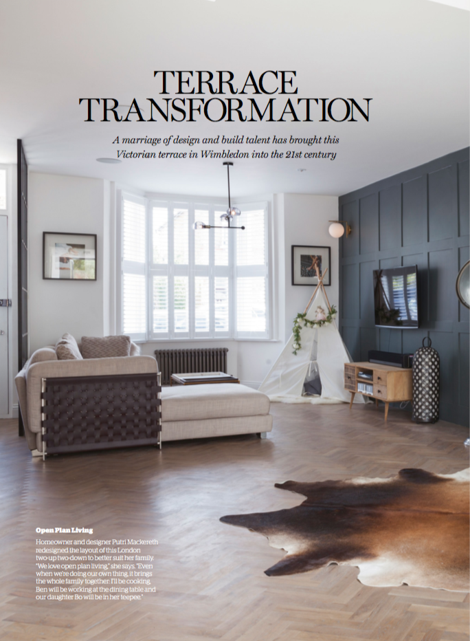 HOME BUILDING & RENOVATING MAGAZINE  One of our fabulous transformations in Wimbledon was featured in Home Building Magazine.